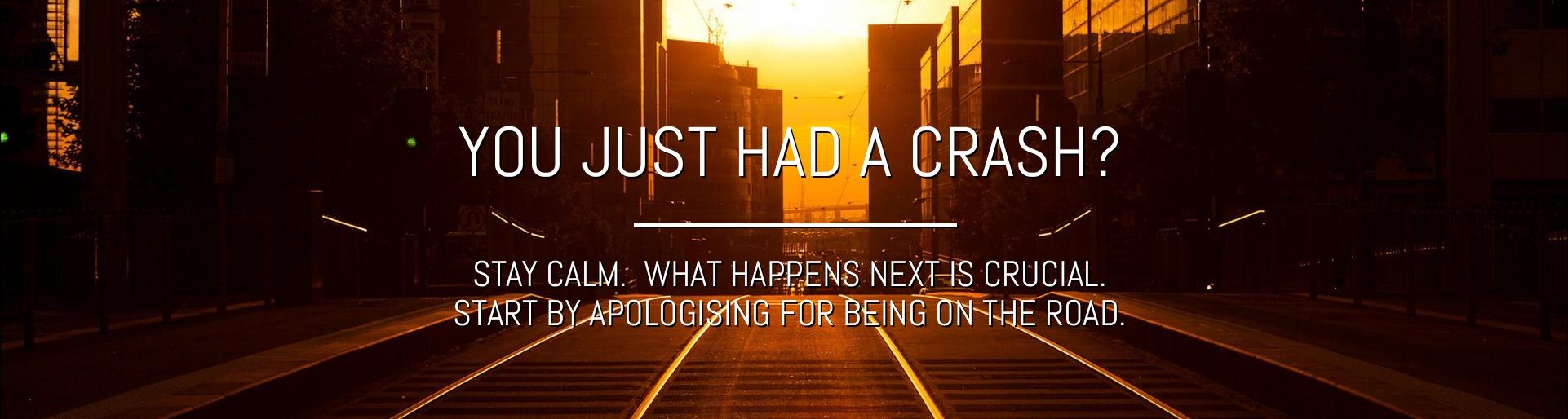 So you just had a crash?