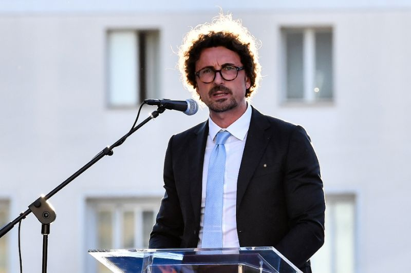 Italian Transport Minister Danilo Toninelli
