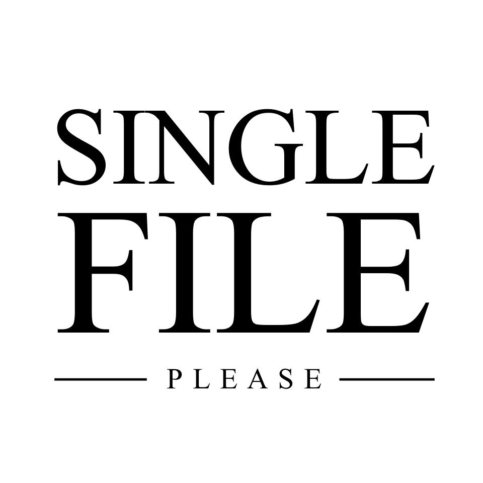 Single File Please Logo
