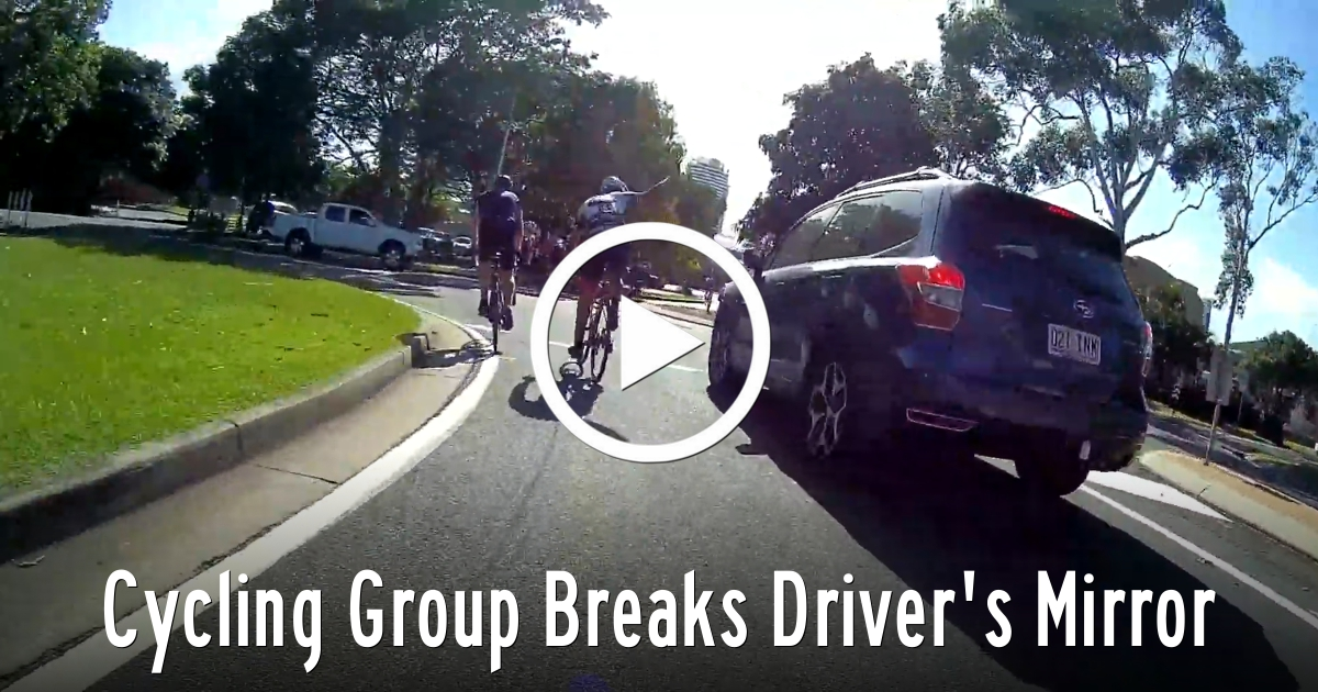 Cycling Group Breaks Driver's Mirror