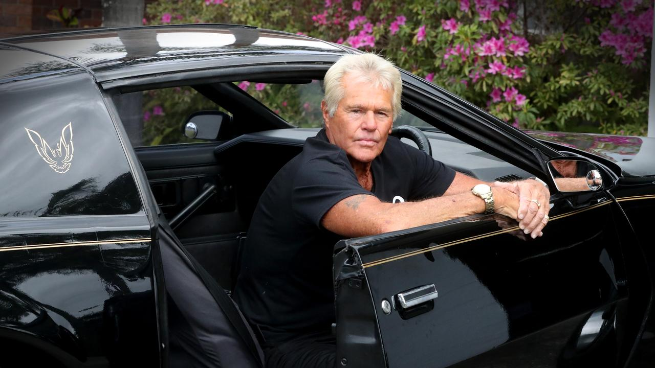 Mr Gibb seen here with his car...