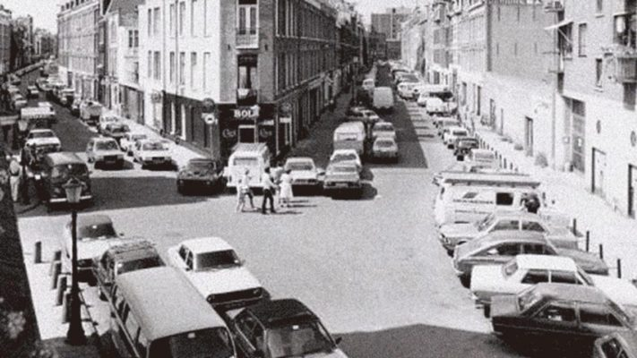 Amsterdam's narrow streets in 1972